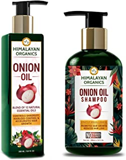 Himalayan Organics Onion Oil Shampoo- 300ml with Onion Hair Oil- 250ml- No Parabens & No Sulphate