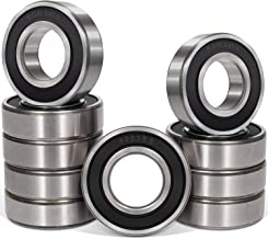 10 Pcs 6003-2RS Ball Bearings (17x35x10mm) Double Rubber Black Seal Bearing, Deep Groove for Home Appliances, Garden Machinery,Industrial Equipment, Electric Toys and Tool, etc.