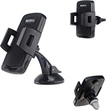 Behsa Universal Smartphone Car Mount 2-in-1 Air Vent Mount Holder Cradle Compatible with iPhone 11 11 pro 11 pro max XS XS Max XR X 8 8+ 7 7+ Samsung Galaxy S11 S10 S9 S8 S7 S6 LG Nexus and More