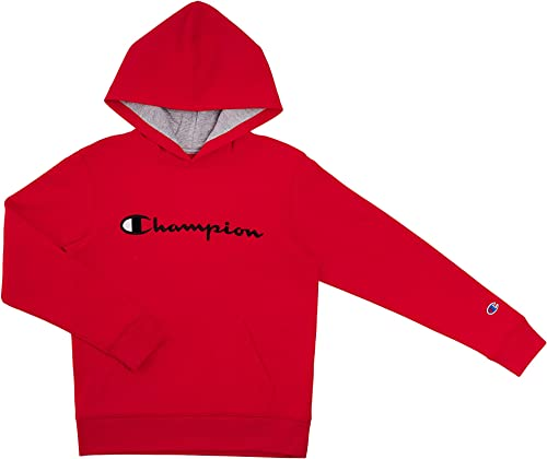 Champion Kids Clothes Sweatshirts Youth Heritage Fleece Pull On Hoody Sweatshirt with Hood