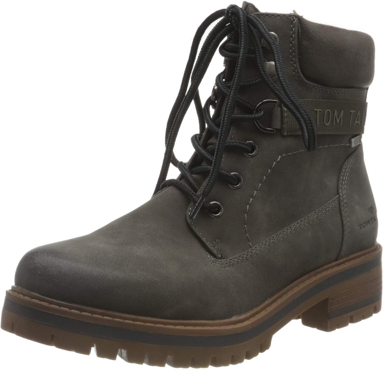 TOM TAILOR Women's 9090006 Mid Calf Boot, Coal, 8 US