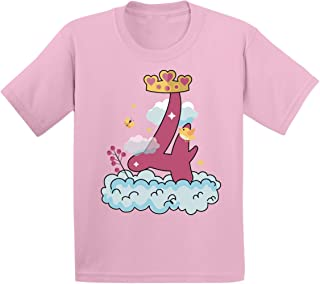 Awkward Styles 4 Years Old Gift Idea Kids T-Shirt 4th Birthday Shirts for Boys Girls