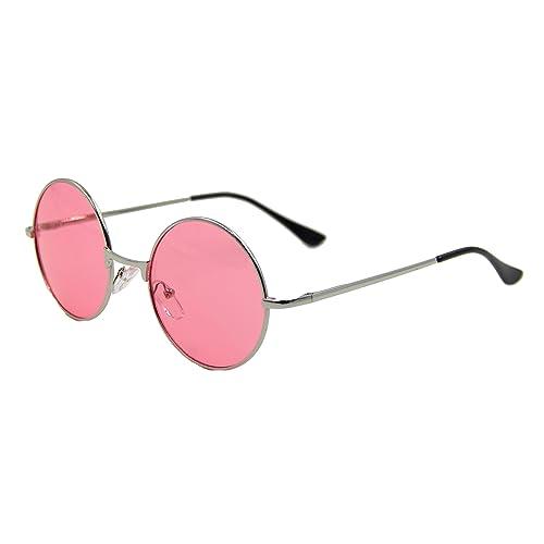 5df0e2e63cf ASVP Shop® Vintage Retro Round Sunglasses Cyber Goggles Steampunk Punk Hippy