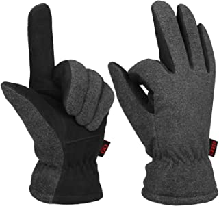 Men & Women Winter Work Driving Gloves Deerskin Leather Thermal Protection -10℉