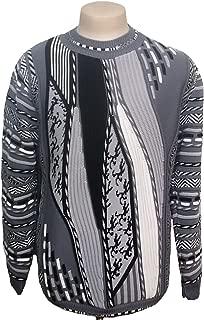 Men's Moc Neck Jacquard Knit Sweater / Large
