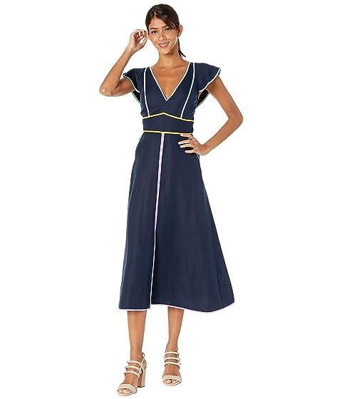 Kate Spade New York Linen Contrast Trim Dress