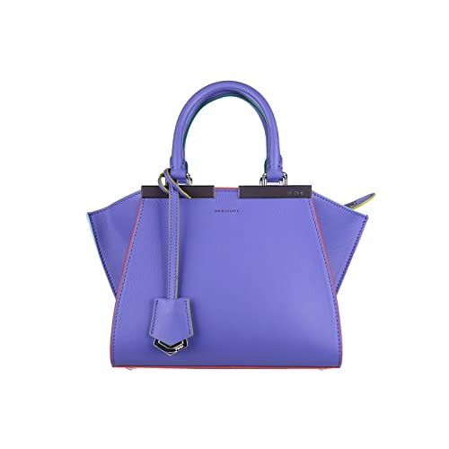 085b6837b0 Fendi women s leather handbag shopping bag purse 3jours mini dolce purple