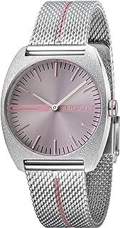 ES1L035M0055 Spectrum Pink Silver Mesh Ladies Watch
