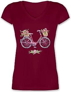 Damen Kurzarm Girlie T-Shirt Frequenz-Cycle Fahrrad Radsport cycling Reise Tour