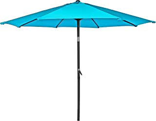HERMO 758 Roun 7.5 Ft Outdoor Patio 8 Ribs Market Table Umbrella, Green