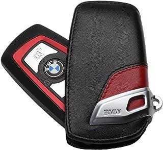 EuroActive BMW Lines Leather Sport Key Case Red & Black F01 F02 F30 F25 F10 F07 F12 F20 New