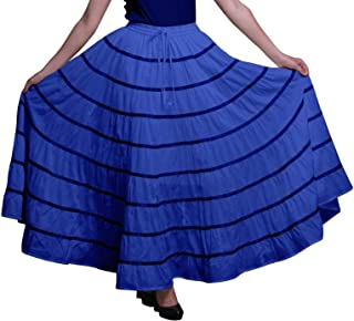 Phagun Women Cotton Long Skirt9 Panel Full CircleSkirtMaxiSummer Clothing