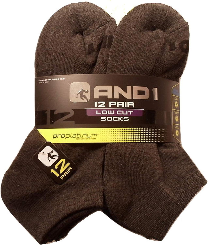 Gray 12 Pair ProPlatinum Low Cut Socks