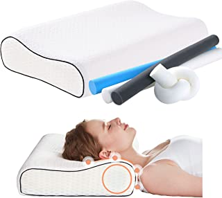 Sponsored Ad - Tbfit Orthopedic Contour Memory Foam Neck Pillow for Pain Relief Sleeping, Soft Bed Pillow for Sleeping, Er...