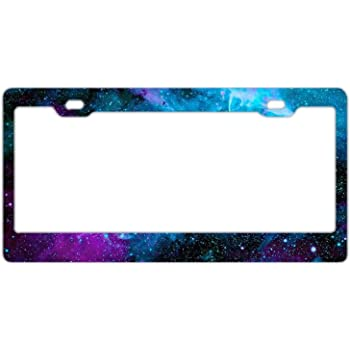 Amazon Com Airstrike Space Galaxy License Plate Frame Stars Car Tag Frame Universe License Plate Holder Outer Space Nebula Cute License Plate Frame 30 750 Automotive