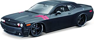 M&J Maisto 2008 Dodge Challenger Matt Black Modern Muscle 1/24 Diecast Model Car 32529, Multicolor