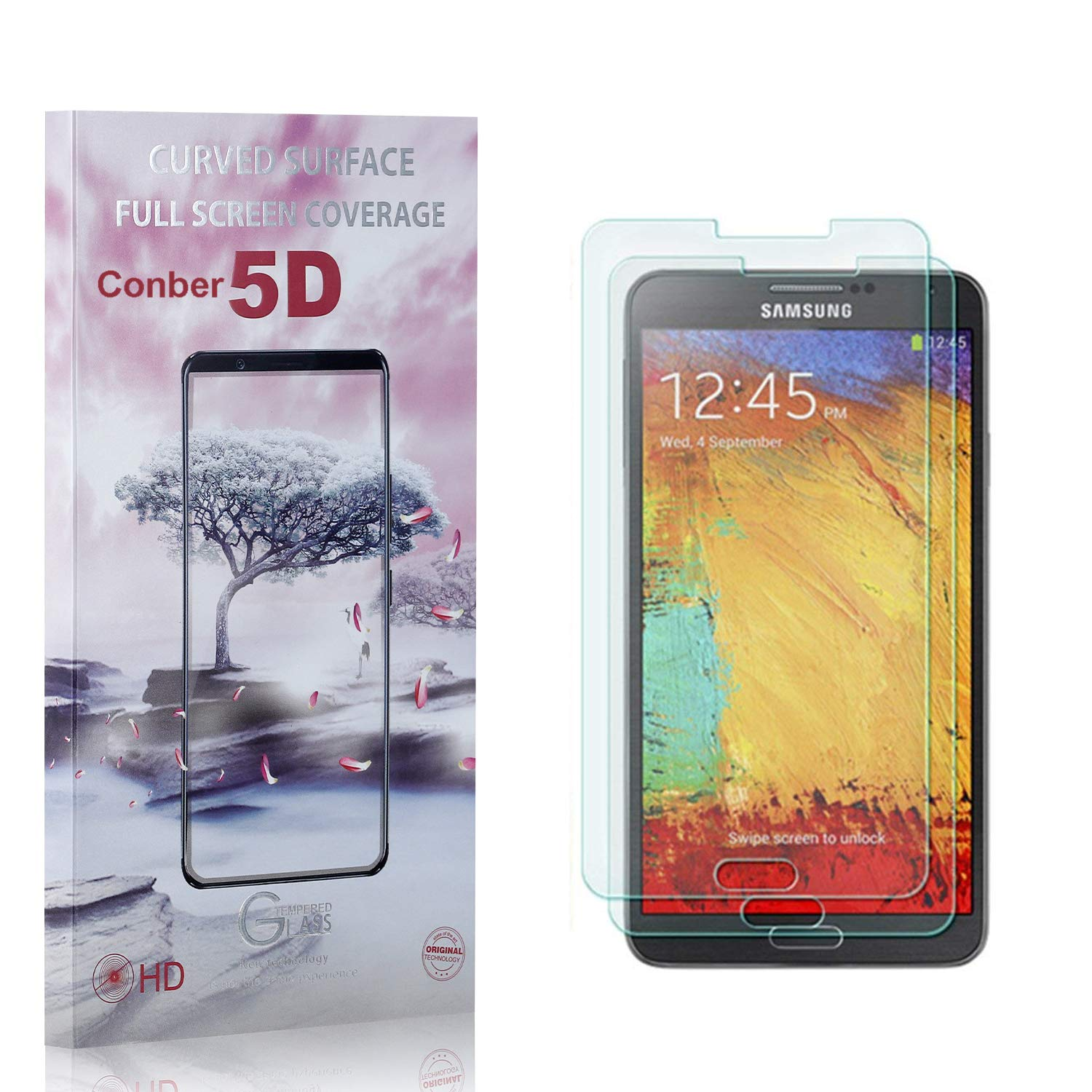 Conber 2 Pack Screen Ranking TOP8 Protector for Note Ant Galaxy Over item handling Samsung 3