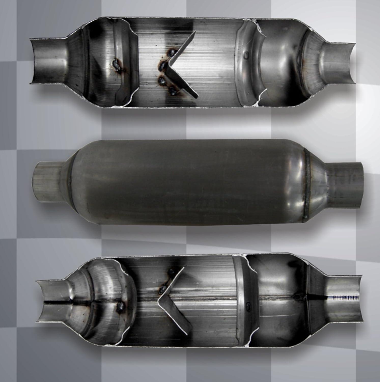 Jones Exhaust Flowpack Muffler JFP225 2.250 Inch Inlet / Outlet