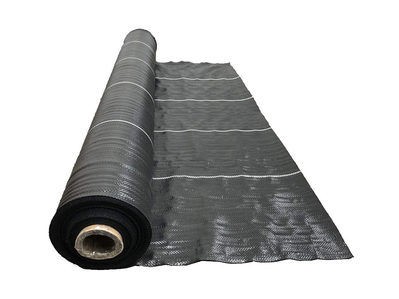 不調和捨てるガレージ高質防草シート 黒 1m×50m 抗菌剤入り(耐用年数4~6年)厚み0.4mm 厚手 草よけシート