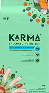 KARMA BALANCED NUTRITION Adult Plant-First Recipe, Natural Dry Dog Food with White Fish, 24 lb. Bag
