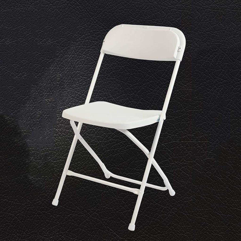 Folding Chair Home Leisure Chair Portable Meeting Training Computer Chair Back Chair Black White. (color   White)
