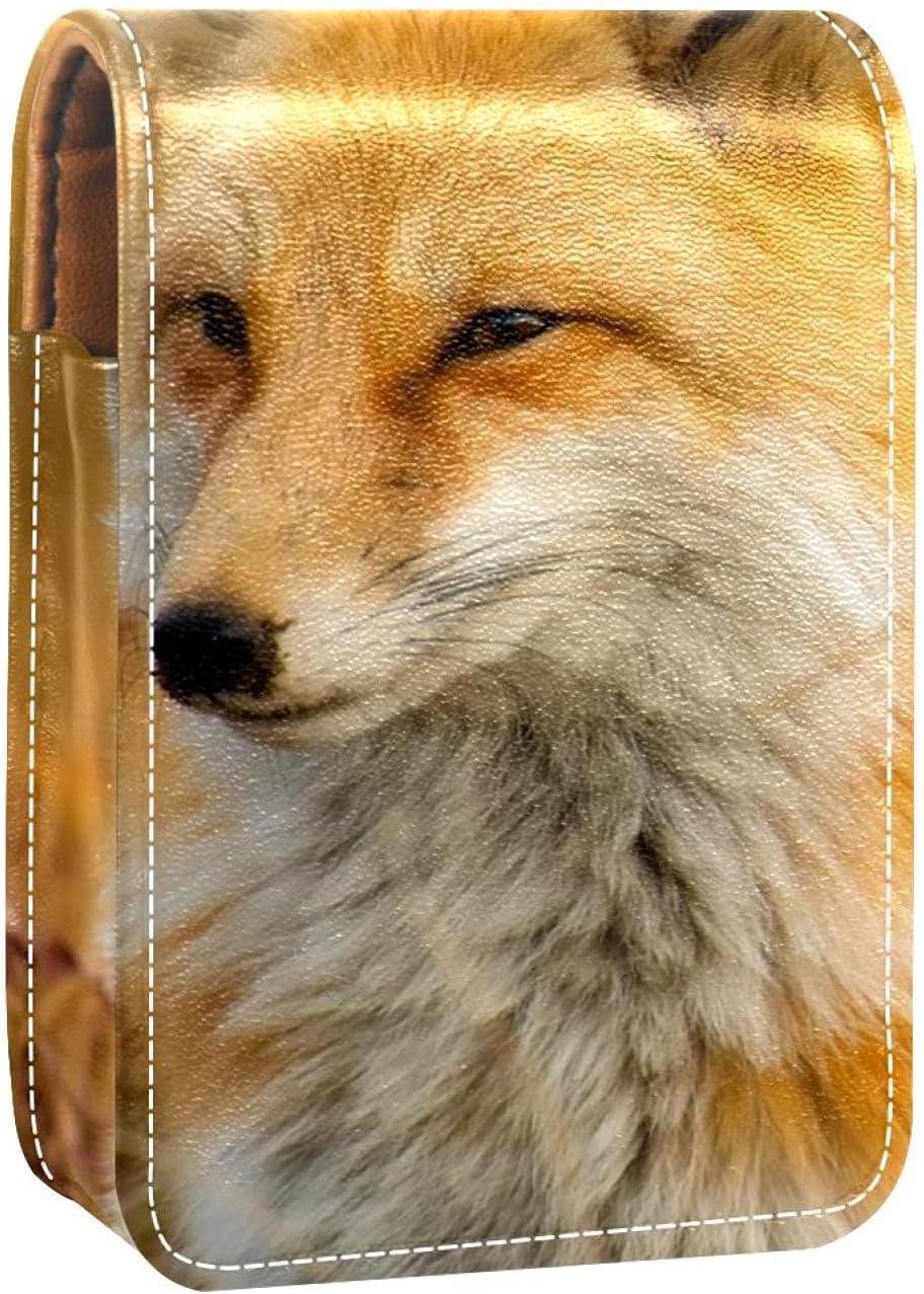 Fox Cheap bargain Closeup Nature Lip Gloss Portable Makeu Lipstick Holder Spasm price Case