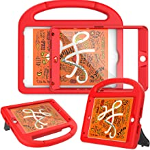 AVAWO Kids Case Built-in Screen Protector for New iPad Mini 5 2019 - Shockproof Handle Stand Kids Friendly Compatible with iPad Mini 4th 5th Generation (Red)
