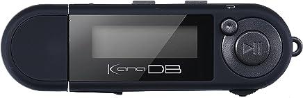 グリーンハウス kana DB 単4形アルカリ乾電池対応デジタルオーディオプレーヤー FMラジオ(ワイドFM対応) ボイスレコーダー機能搭載  8GB ブラック GH-KANADB8-BK