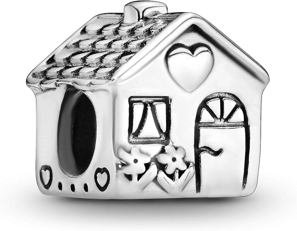 Pandora, bead charm,ciondolo,a forma di casetta per donna,in  in argento 925 791267
