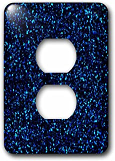 3dRose lsp_194761_6 Print of Navy Blue Sequins 2 Plug Outlet Cover, Multicolor
