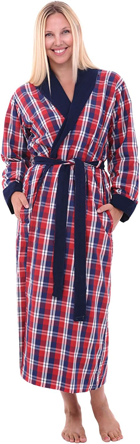 Alexander Del Rossa Womens Turkish Terry Cloth Robe, Long Cotton Bathrobe