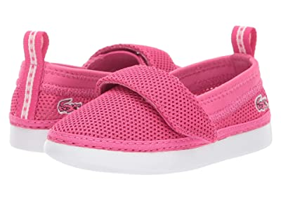 Lacoste Kids L.Ydro 119 1 CUI (Toddler/Little Kid) (Dark Pink/White) Girl