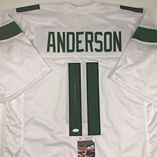 Autographed/Signed Robby Anderson New York 2019 White Football Jersey JSA COA