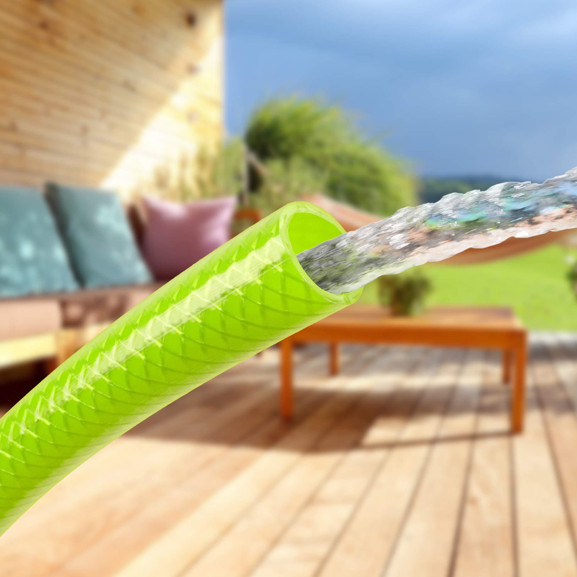 Tatay 9988205 Green Line - Kit Manguera y Conectores para riego de terraza o jardín, 20 Metros de Largo, 5/8