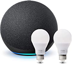 All-new Echo (4th Gen) - Charcoal - bundle with Philips Hue Bulbs (2-pack)