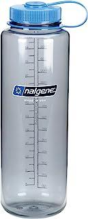 Nalgene HDPE Wide Mouth Water Bottle, Gray, 48 oz