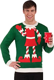 Forum Novelties Holiday Elf Adult Ugly Christmas Sweater