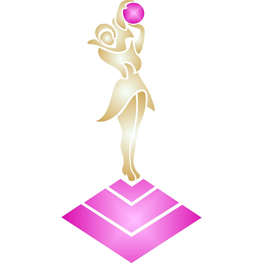 """Art Deco Stencil - (size 4.5""""w x 8.5""""h) Reusable Wall Stencils for Painting - Best Quality Art Deco Sculpture Figurine - Use on Walls, Floors, Fabrics, Glass, Wood, Cards, and More…"""