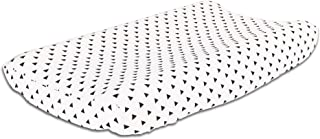 Black Triangle on White 100% Cotton Changing Pad Cover by The Peanut Shell