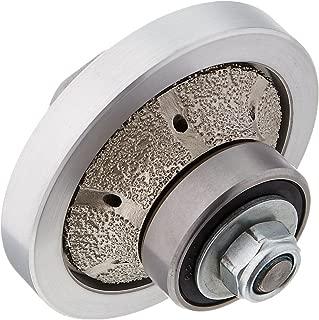 3/8-Inch 10mm B-Shape Radius Half Demi Roundover Bull nose Diamond Router Bit Hand Profile Grinding wheel shaping wheel for granite marble concrete quartz fits on polisher grinder counter top