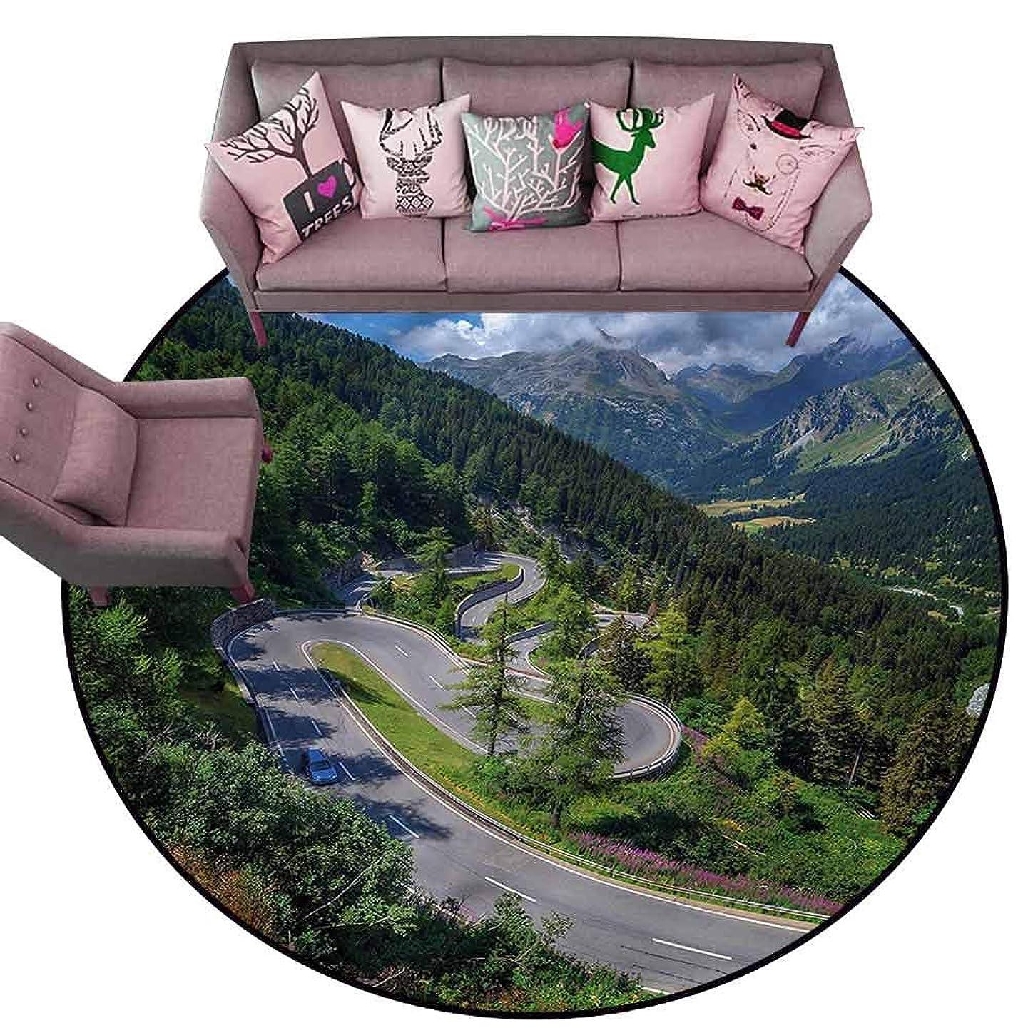 Office Chair Floor Mat Foot Pad Outdoor,Maloja Pass in Switzerland Diameter 48