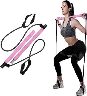 Widerstandsband Einstellbarer Übungsstab Toning Gym Portable Pilates Bar MIT