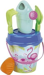 Simba Ecoiffier Beach Flamingo Iml Bucket with Accessories, Multi-Colour, 17 cm