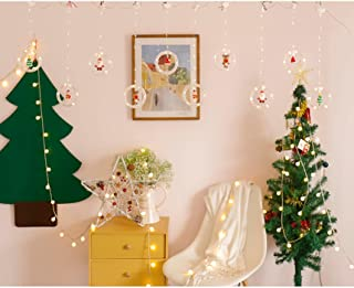 The New Led Christmas Round Link Daylight Cartoon Pendant Color Lamp Bedroom Living Room Wall Curtain Decoration USB Warm