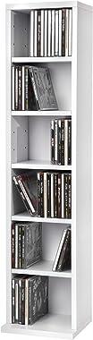 TecTake Étagère Rangement CD/DVD Meuble de Rangement pour 102 CDs - H/l/P : env. 90/21/20 cm - diverses Couleurs au Choix - (