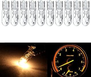 cciyu T5 Wedge 37 58 70 73 74 White 12V 1 LED Car Auto Dashboard Gauge Side Light Bulb Lamp (Warm white)