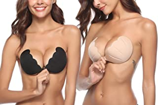 HugeStore Women Reusable Invisible Silicone Nipple Cover Strapless Backless Adhesive Bra