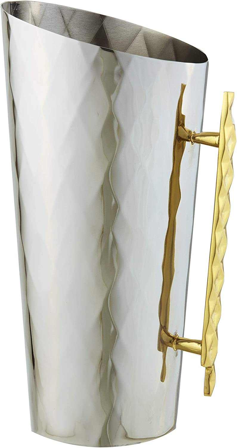 Elegance Geometric Beverage Pitcher 56 ounce Gold Now on sale Silver In a popularity