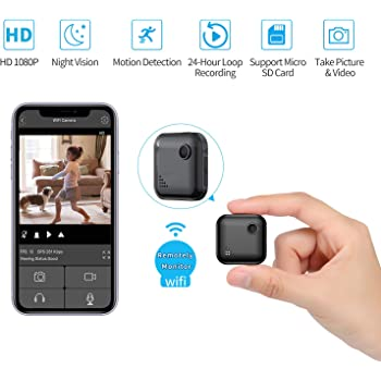 Mini-Spy-Camera WiFi Wireless Hidden Camera, OUCAM Small Surveillance Camera HD 1080P Nanny Cam with Motion Sensor Night Vision and Remote Viewing, Support iOS/Android (2020 Upgraded)
