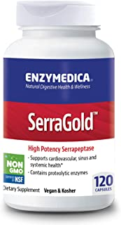 Enzymedica, SerraGold, Enzyme Supplement to Support Cardiovascular, Sinus and Immune Health, Includes Serrapeptase, Vegan,...